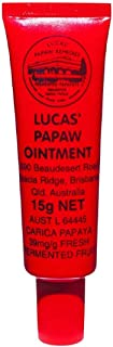 Lucas Papaw Ointment 15G (With Lip Applicator) | Best Paw Paw Cream for Chapped Lips, Minor Burns, Sunburn, Cuts, Insect Bites and Diaper Rash