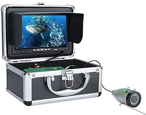WSVULLD Buscador de Peces Cámara de Pesca submarina HD 1280 * 720 Screen11PCS Leds + 15pcs Lámpara infrarroja 1080p Cámara para la Pesca 16GB de recodificación, 15m (Size : 30M)