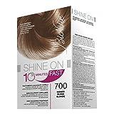 BioNike Shine On Fast Trattamento Colorante Capelli (Tono Biondo 700) - 1 flacone x 60 ml. + 1 tubo x 60 ml. (Totale 120 ml.)