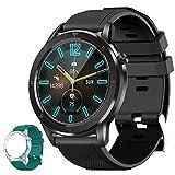 Aney Well Smartwatch, Reloj Inteligente IP68 Impermeable, Reloj Deportivo 1.3 Inch con 15 Deportes, Monitor de Frecuencia Cardíaca/Oxígeno en Sangre/Presión Arterial para Hombres y Mujeres