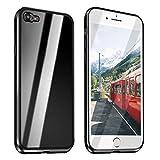 Funda Compatible para iPhone 6 Plus/iPhone 6S Plus Adsorción Magnética 360 Grados Protección Carcasa Delantera y Trasera Colorear Vidrio Templado Metal Marco Delgada Bumper Cubierta Case (3)