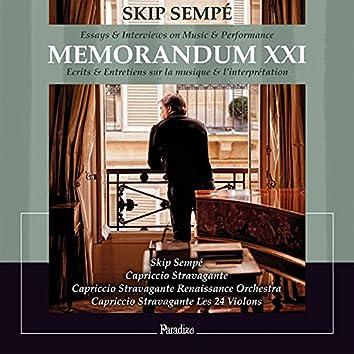 Skip Sempé: Memorandum XXI