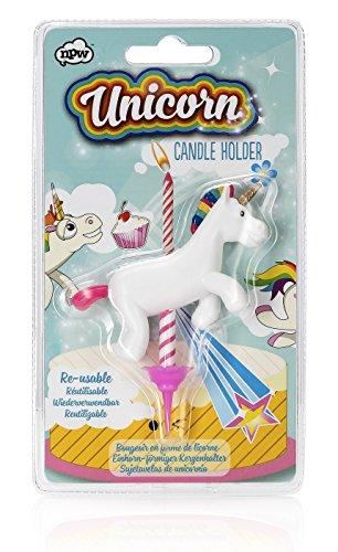 NPW - Portavelas para Tarta de cumpleaños -Unicornio