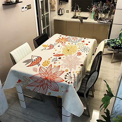 Nappe de Table, DOTBUY Rectangulaire Tissu Lavable Entretien Facile Résistant Multi-usages Intérieur et Extérieur Anti-Salissure Étanche