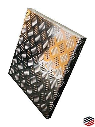 Alu Abdeckung aus Tränenblech Quintett Wanne 2,5/4,0 mm (60 x 60 cm)