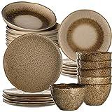 Leonardo 026057 Matera - Vajilla de gres (24 piezas, platos,...