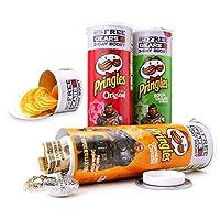 Versteck für Geld, Wertgegenstände oder Sonstiges Oberer Teil mit echten Pringles Chips gefüllt Unterer Teil besteht aus Tresorfach Von gewöhnlicher Pringlesdose nicht zu unterscheiden Schraubverschluss schließt vollkommen ab (nicht 100% smell proof)