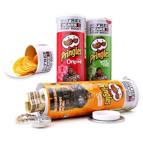 Stash Pringles - Cassetta portavalori a forma di barattolo di Pringles, nascondiglio per soldi, diversi tipi