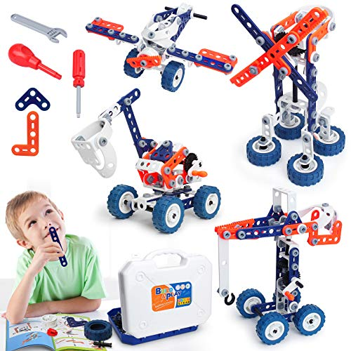 Building Toys Kits 152 Piece STEM Toys Erector Set for Boys Creative Construction Engineering Fun Educational Building Blocks Set for Boys and Girls Ages 6 7 8 9 10 11 12 Year Old, Best Toy Gift