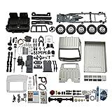 Colcolo Hobby Grade WPL D12 RC Truck Kit Sin Ensamblar Escala 1/10 Camión de Simulación 2WD Cepillado Escalada Luz LED Niños Niños Regalos - Plata