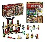 Lego Set: Ninjago Legacy Turnier de los elementos 71735 + libro Ninjago edición especial (póster, cómics, rompecabezas), incluye dos minifiguras
