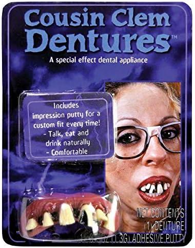 Fun World Unisex Adult s Big Bubba Clem Teeth Multi Standard product image