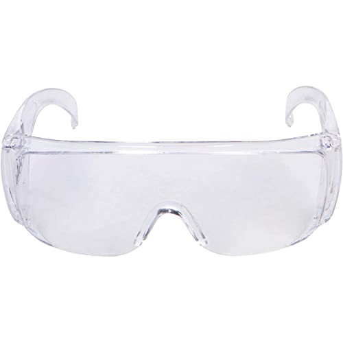Fit Over Glasses UV Protection Polycarbonate Clear 5-Pcs Morris Safety Glasses