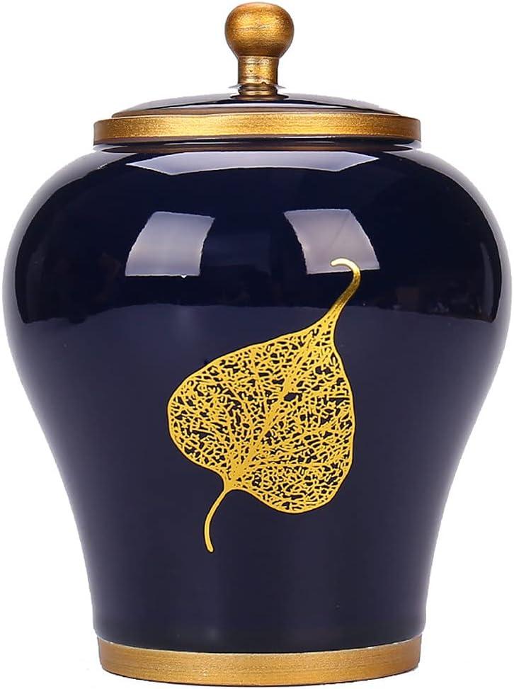 13.5cm Many popular brands Tea It is very popular Caddy Ceramic Jar Sealed Retro Box Household
