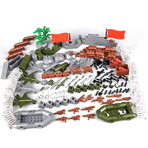 HYZM Juego de armas militares, 202 unidades, WW2, juego de armas para soldados, minifiguras SWAT, bloques de construcción militares, compatibles con Lego