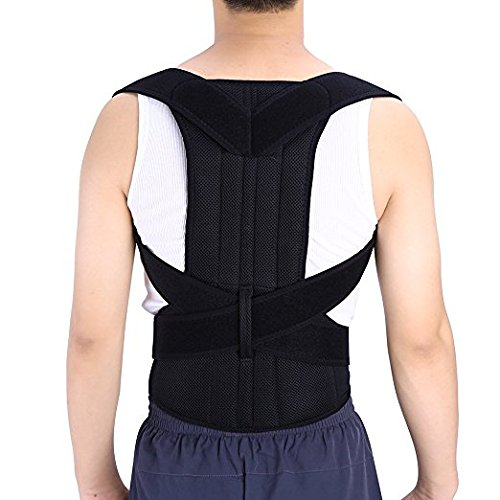 Shoulder Back Waist Support,Yosoo Adjustable and Breathable Back Support Posture Corrector Brace Posture Correction Belt for Men Women Back Shoulder Support Belt (S)