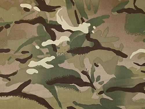 Camouflage-Gewebe (Tarnfarbe) Baumwolle Twill Kleiderstoff Beige & Grün–Meterware