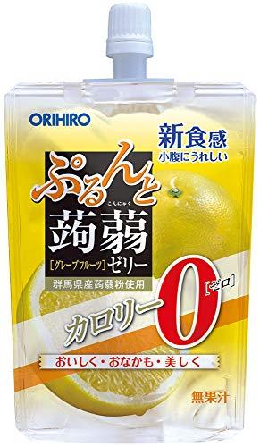 オリヒロ ぷるんと蒟蒻ゼリー カロリーゼロ グレープフルーツ 130g×8個