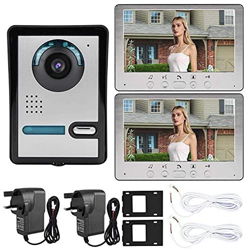 BJH Videoportero con intercomunicador Manos Libres Teléfono de Puerta con intercomunicador, para el hogar