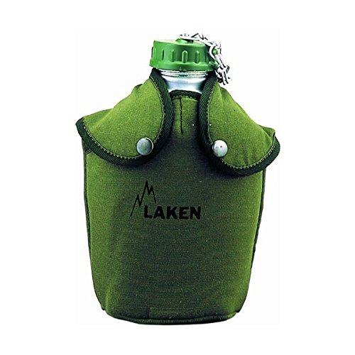 Laken 8412544001450 Cantimplora de Aluminio 1,3L con Funda Verde de Fieltro, Adultos Unisex