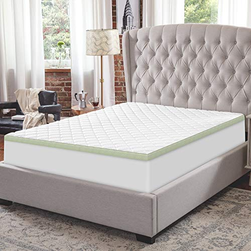 SensorPEDIC 3-Inch Ultimate Cooling Luxury Quilted Memory Foam Bed Topper, California King, White
