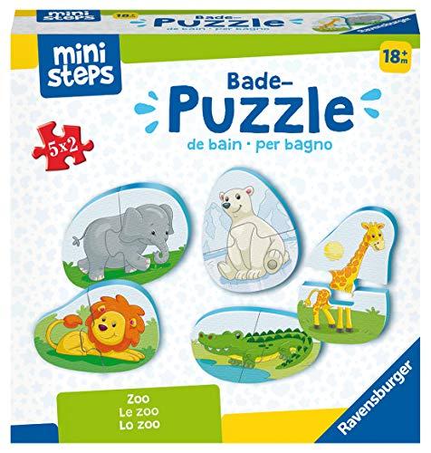 Ravensburger ministeps 4166 Bade-Puzzle Zoo - Badespielzeug, Spielzeug ab 18 Monate