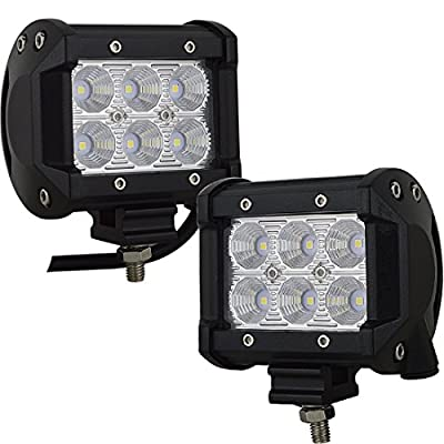 """Willpower 4"""" inch 48W Flood LED Work Light Bar for Truck Car ATV SUV 4X4 Jeep Truck Boat Driving Lamp"""