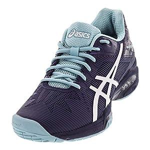 ASICS Womens Gel-Solution Speed 3 Sneaker, Indigo Blue/White/Porcelain Blue, Size 7.5