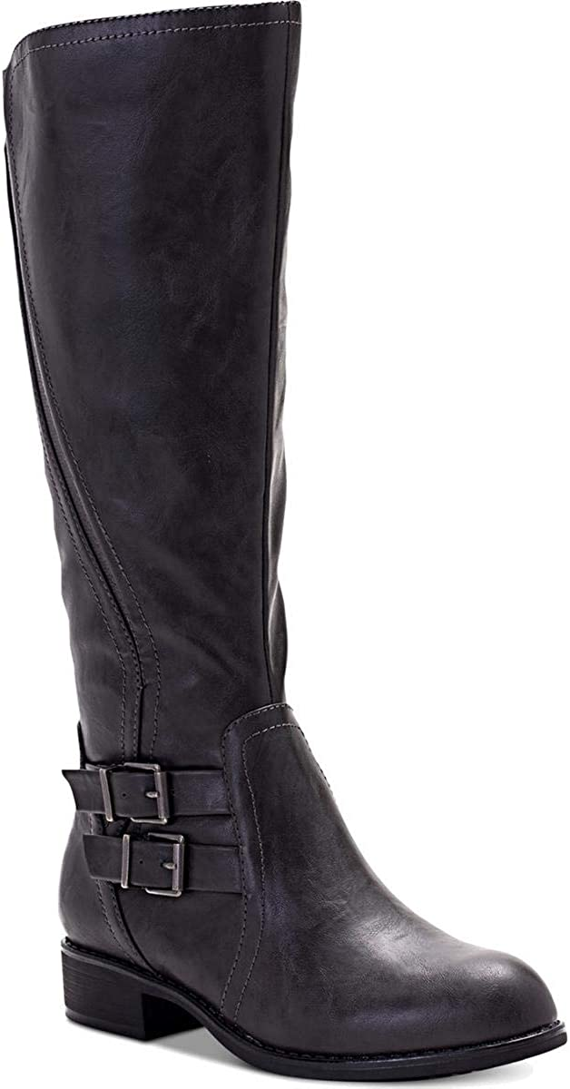 Style & Co. Womens Milahp Leather Closed Toe Mid-Calf Cold, Grey, Size 8.0