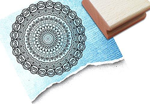 Stempel - Z 3 16a - Centangle stempel - Doodle stempel MANDALA I met patroon - stempel je centreerhoek steeds weer nieuw en anders dan een sjabloon om in te kleuren - voor kaarten - kunst en meer