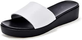 Wedges Flip Flops Sandals for Women,Casual Outdoor Non-Slip Platform Beach Slides Shoes