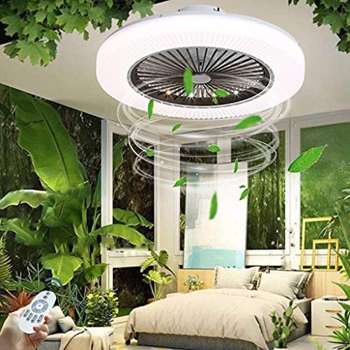 Ventilador De Luz LED Ventilador Inteligente Luz De Techo Luz De Decoración Interior Velocidad De Viento Ajustable Con Control Remoto Dormitorio Ventilador Inversor Luz De Techo