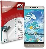 atFolix Schutzfolie kompatibel mit LeEco Le Pro 3 Folie, ultraklare & Flexible FX Bildschirmschutzfolie (3X)