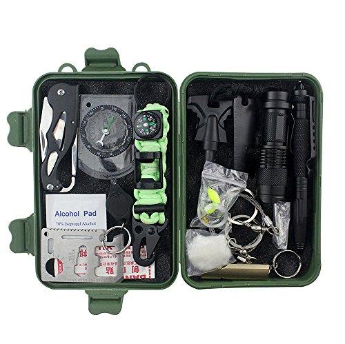 Notfall-Kit Outdoor-Rettungs-Set, voll ausgestattet, Mehrzweck-Überlebens-Kit AXEMOORES