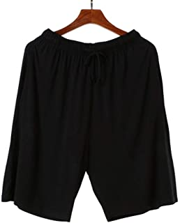 Wantschun Men's Modal Mix Bamboo Fiber Casual Lounge Shorts Boxers Pants with Pockets Yoga Trousers Sleepwear Pyjamas Slee...