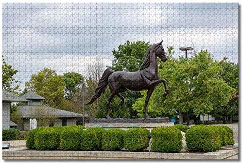 Puzzle- Estados Unidos América Kentucky Horse Park Lexington Rompecabezas para Adultos Niños...