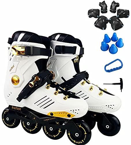 Inlineskates für Damen mädchen Jungen Erwachsene 15-teiliges Set Rollen Skates Kinder Comfort Hartschale 4in1rollschuh mit
