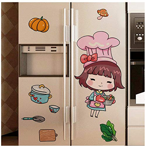 MINGKK Pegatinas de pared para niñas DIY alimentos utensilios de cocina calcomanías de pared para habitación de niños, habitación de bebé, habitación de bebé, decoración de guardería, 45 x 60 cm