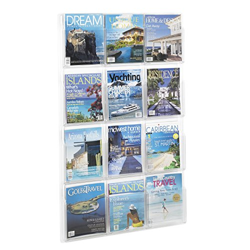 Safco Products Reveal 12 Magazine Display, 5602CL,...