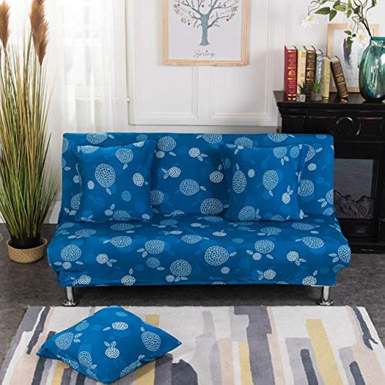 Leaf Pattern Sofa Cover Printing Tight Wrap All-Inclusive Sofa Cover Elastic Sofa Towel Furniture Slipcover Slipcover 1PC   11, Singer seat