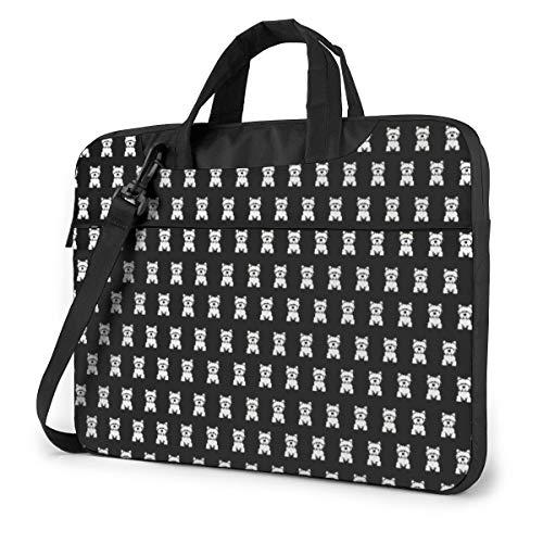 Dog in Black Background Laptop Bag Shockproof Briefcase Tablet Carry Handbag for Business Trip Office 13 inch