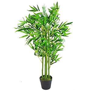 Leaf Design UK-Árboles Artificiales de bambú (tamaño XL), Marrón Natural, 90 cm