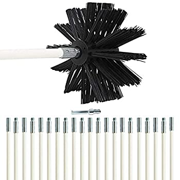 Dryer Vent Cleaning Brush- 30-Feet  Effective Chimney Brushes Vent Trap Cleaner Strong and Flexible with Drill Adapter Included for Faster Lint Removal Use with or Without Drill
