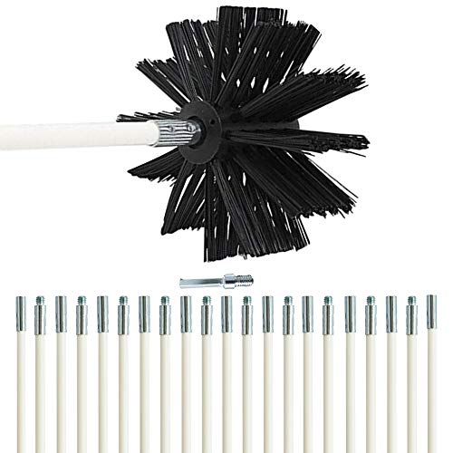 Dryer Vent Cleaning Brush Kit 30Feet Highly Effective Lint Remover Reusable Strong and Flexible Lint Brush with Bonus Drill Adapter Included for Faster Lint Removal Use with Or Without Drill