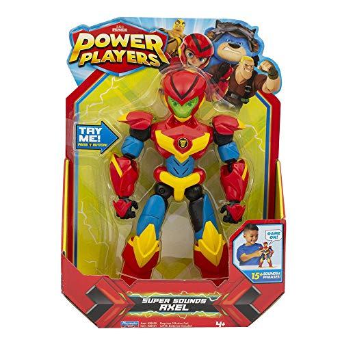 POWER PLAYERS- Figurine Deluxe électronique de 22 cm-Axel, PWW023
