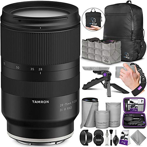 Tamron 28-75mm f/2.8 Di III RXD Lens for Sony E Mount Cameras with Altura Photo Essential Accessory and Travel Bundle