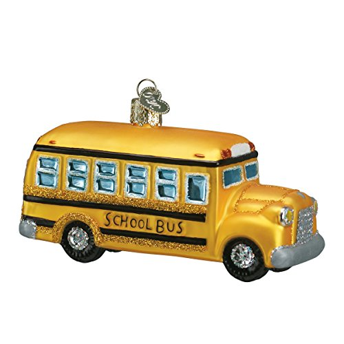 Old World Christmas Ornaments: School Bus Glass Blown Ornaments for Christmas Tree (46007)