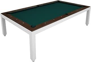 Aramith White Powder Coated Fusion Pool Table wTop
