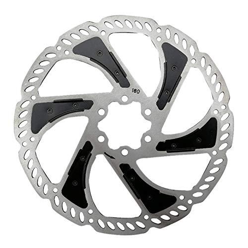 JVSISM Freno de Disco para Bicicleta de Carretera MTB 140Mm Rotor Flotante de Enfriamiento de Bicicleta 6 Pernos Rotor de Disco de Bicicleta Accesorios de Bicicleta