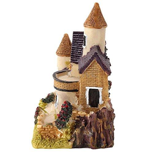 pu ran Miniatur-Haus mit Pflanzen Micro Landschaft, Home Dekoration Kunstharz-Dekor–zufällige Farbe und Muster